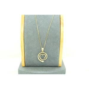 14K Yellow Gold Heart Charm on the Chain Necklace